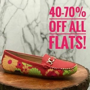 Red Multi-color Women's Loafer
